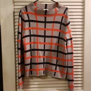 ❣Orange and Navy striped sweater❣